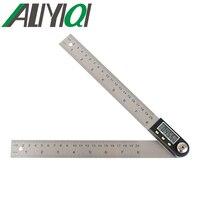 5429-200 0-200mm de nivel de instrumento de medición gobernante ángulo digital del metro del buscador transportador goniómetro nclinometer Acero Inoxidable