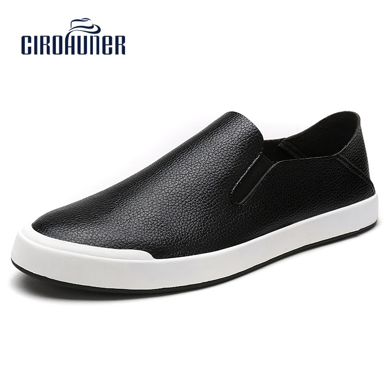 CIROHUNER Mens Leather Casual Shoes Comfortable Men Flats Shoes Breathable Soft New 2017 W top brand high quality genuine leather casual men shoes cow suede comfortable loafers soft breathable shoes men flats warm