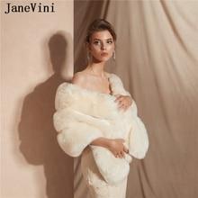 Women Bolero Cloak Shawl Wrap Party-Jacket Wedding-Cape Mariage Faux-Fur Bridal Elegant