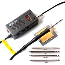 Bakon ferro de solda elétrico 75w 950d, solda portátil com visor digital, temperatura constante, estação de solda anti estática t13, ponta us ue