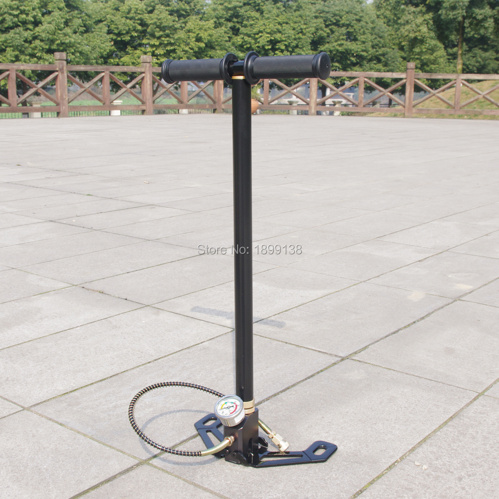 Factory outlet High Pressure 3 Stage PCP Hand Operated Air Pump Hunting PCP pump 300bar 30mpa 4500psi bull pre charged high pressure hand pump pcp 30mpa with valve gauge