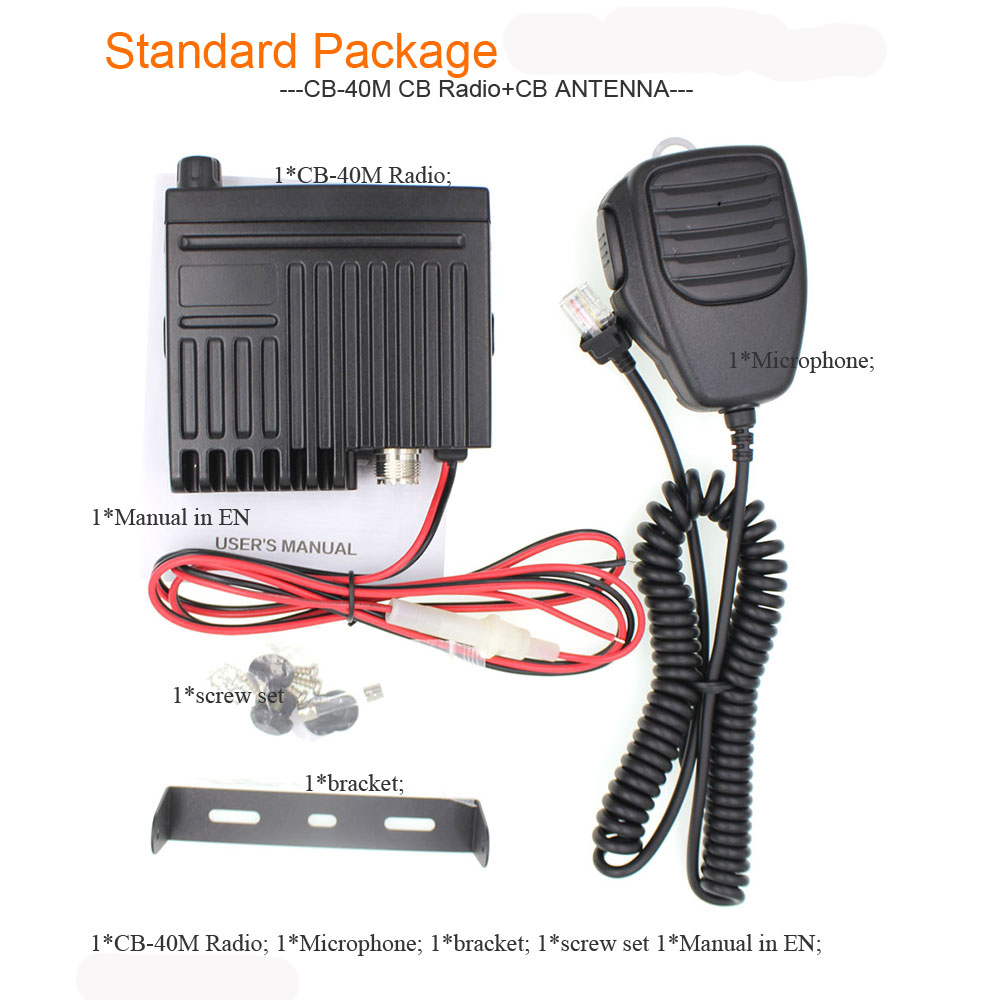 Image 5 - Mini mobile radio CB 40M 25.615  30.105 AR 925 8W 40CH 9/19 emergency channel CB Car Radio Smart Transceiver amateur Compact AM-in Walkie Talkie from Cellphones & Telecommunications