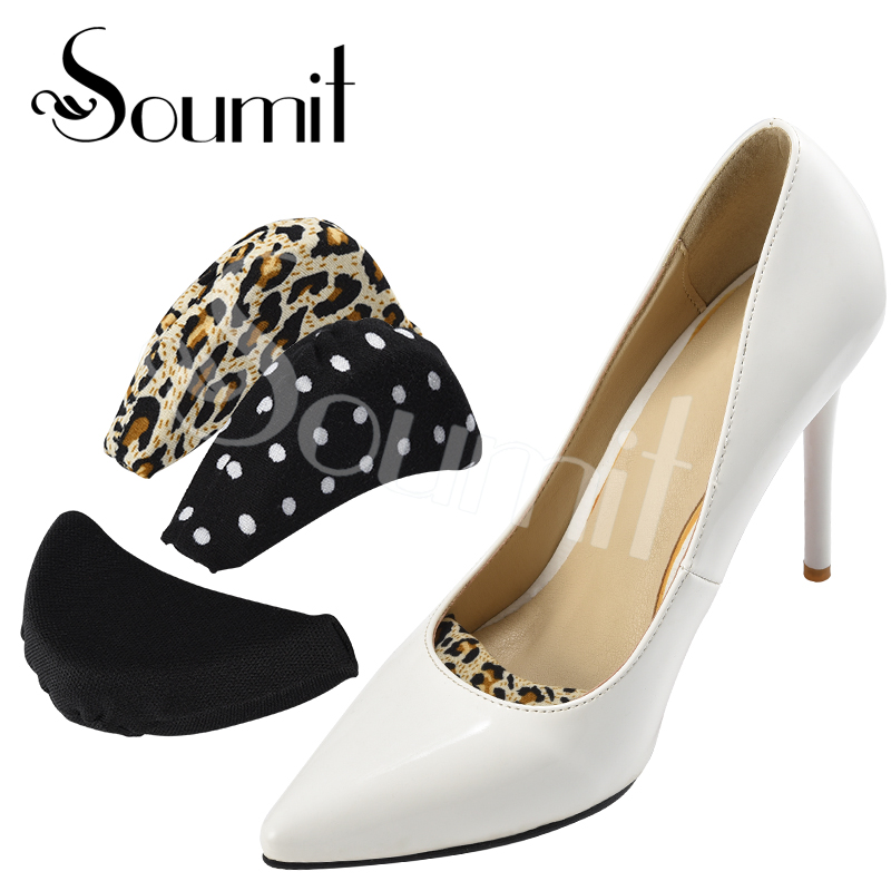 Soumit 1 Pair Forefoot Insert Pad For Women High Heels Toe Plug Half Sponge Shoes Cushion Feet Filler Insoles Adjustment Pads