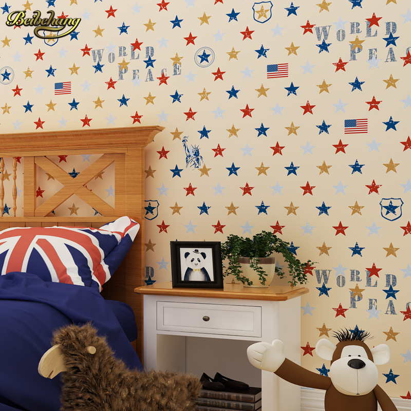 beibehang Abstract star fabric television papel de parede 3D wall paper roll background wallpaper living room children bedroom