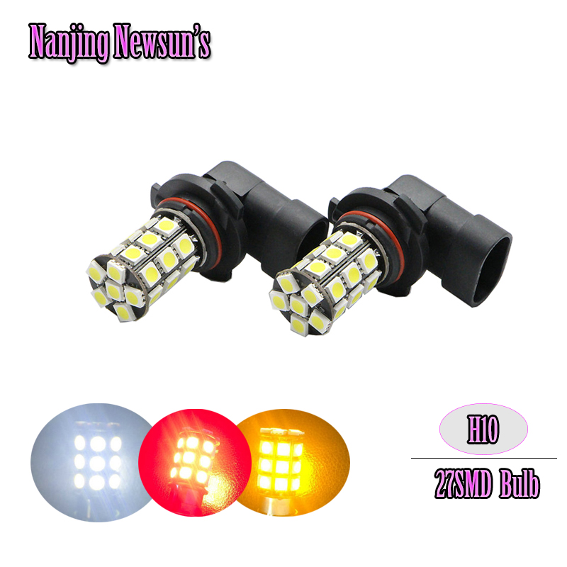 9140 Fog Light Bulb: 2PCs/Pair H10 9140 9145 Led Driving Daytime Running Light Fog Light Bulbs  27SMD 5050 Super White Car Styling Auto Car Moto Light,Lighting