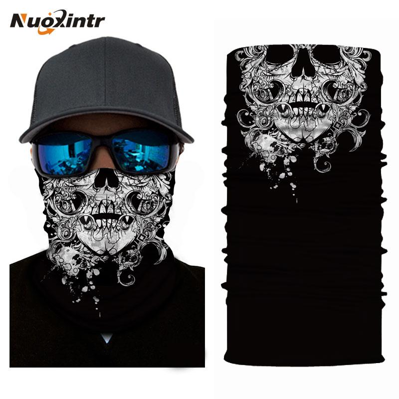 Nuoxintr Magic Head Face Mask Seamlessly Skull Halloween Scarf Mask Windproof Biker Motorcycle Scarf Outdoor Bandana Headband monster printed halloween decor head mask page 8