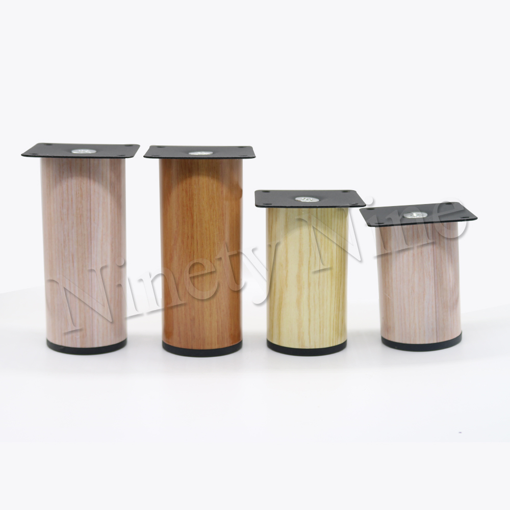 4Pcs Wood grain  Durable Stainless Steel Cylindrical Furniture Legs Sofa Table Cabinet Feet 64*80mm 64*90mm 64*120mm 4Pcs Wood grain  Durable Stainless Steel Cylindrical Furniture Legs Sofa Table Cabinet Feet 64*80mm 64*90mm 64*120mm