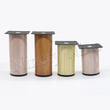 4Pcs Wood grain Durable Stainless Steel Cylindrical Furniture Legs Sofa Table Cabinet Feet 64*80mm 64*90mm 64*120mm(China)
