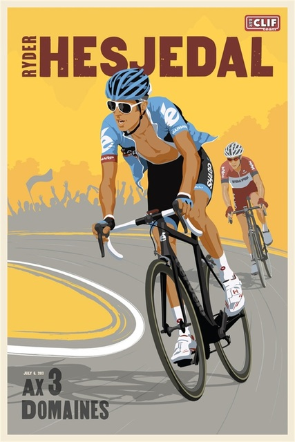 Ride Bike Race Sports Marathon Vintage Retro Travel Kraft Poster