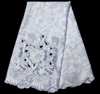 Newest White Swiss Voile Lace In Switzerland African Lace Fabric High Quality African Swiss Voile Lace For Wedding Party dress