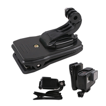 360 Degree Rotation Clip Backpack Hat Clamp With J Hook Mount for GoPro Hero 7 6 5 4 for Sjcam Sj6 for Xiaoyi 4K Action Camera