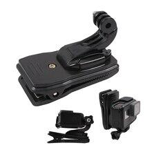 Зажим для шапочки с поворотом на 360 градусов, зажим с J Hook для GoPro Hero 7 6 5 4 для Sjcam Sj6 для Xiaoyi 4K экшн камеры