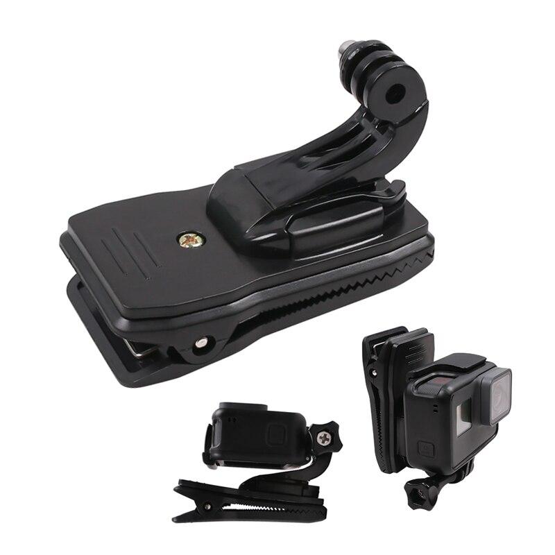 Вращающийся на 360 градусов зажим для рюкзака зажим для шляпы с креплением на крючок J для GoPro Hero 7 6 5 4 для Sjcam Sj6 для экшн-камеры Xiaoyi 4K