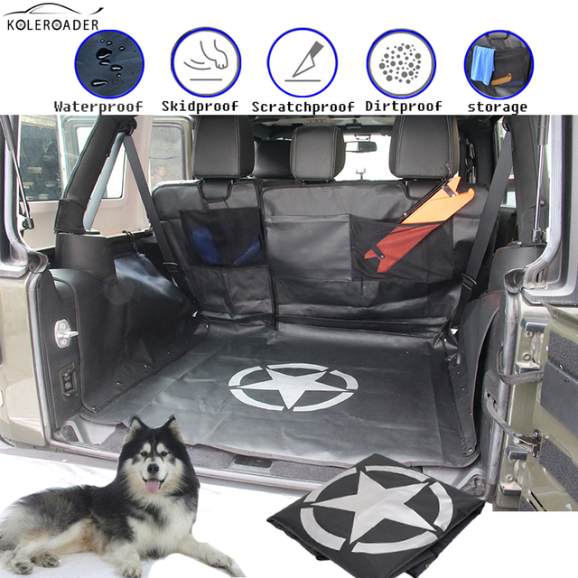 Koleroader Auto Pet Seat Covers Military Star Waterproof