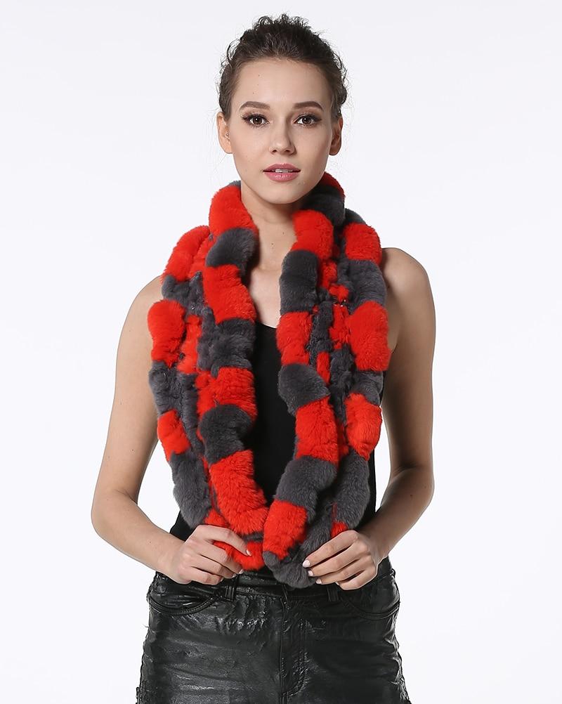 Aliexpress.com  Comprar IANLAN Real de moda bufanda de piel de abrigo para  las mujeres de piel de conejo Rex pañuelos damas invierno cálido silenciador  ... 21b4c78b377