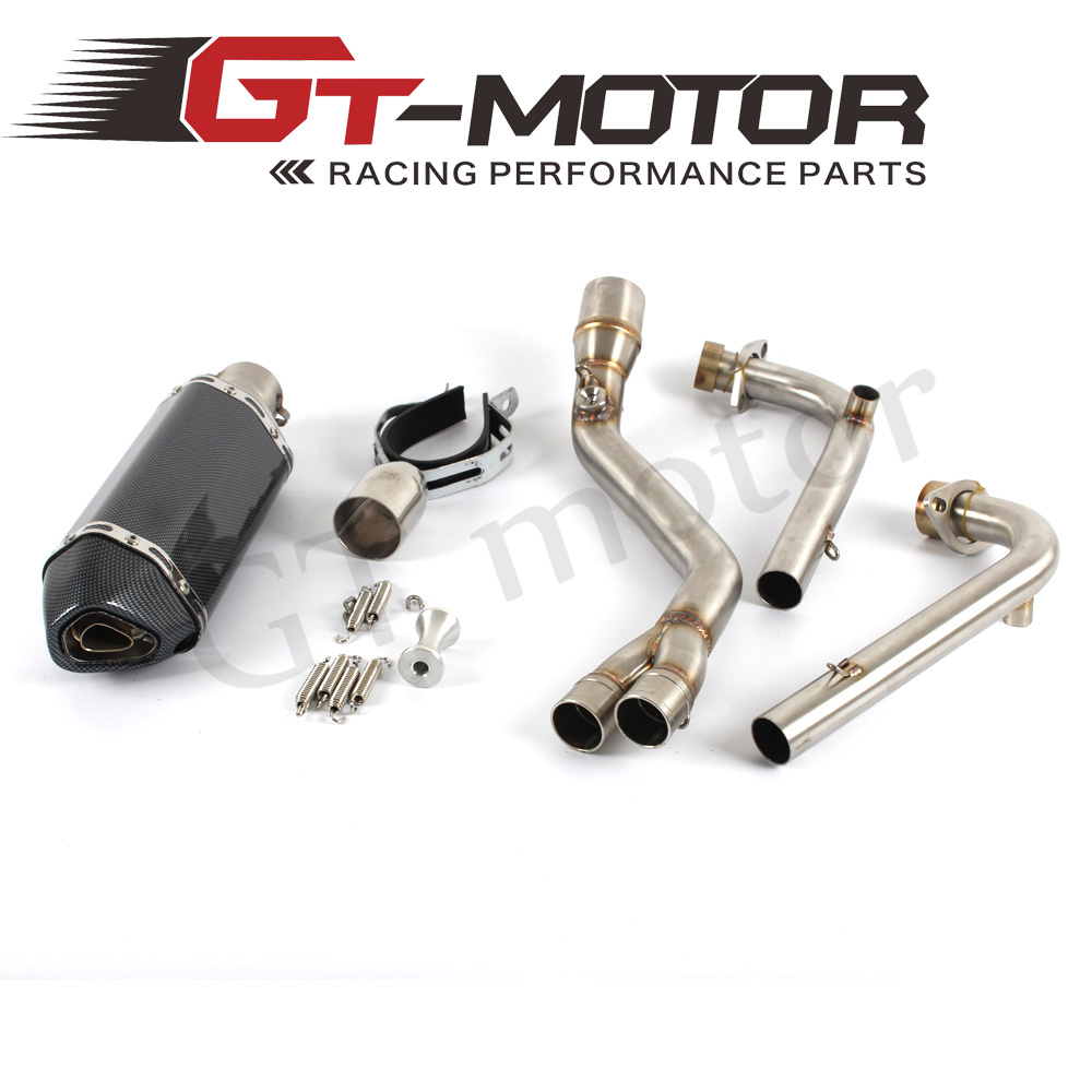 GT Motor - motorcycle muffler Exhaust Full system FOR Yamaha Tmax500 TMAX530 T-MAX 500 530  2008-2016 with  exhaust