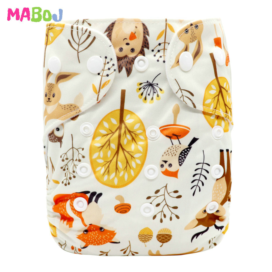 MABOJ Diaper Baby Pocket Diaper Washable Cloth Diapers Reusable Nappies Cover Newborn Waterproof Girl Boy Bebe Nappy Wholesale - Цвет: PD5-5-13