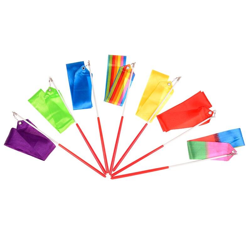 1M Dance Ribbon Gym Rhythmic Gymnastics Art Gymnastic Ballet Streamer Twirling Rod Outdoor Sport Games Children Toys For Kids