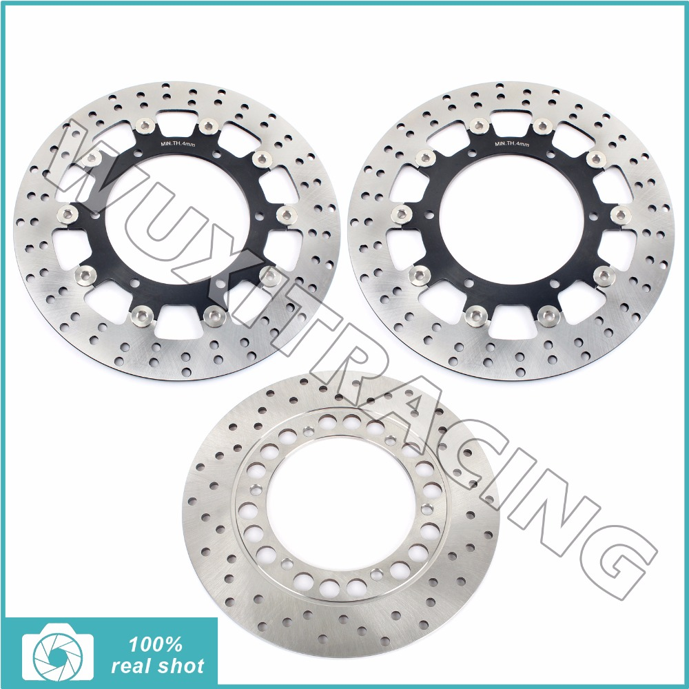 Full Set Front Rear Brake Discs Rotors for YAMAHA XJ 600 N XTZ 660 TENERE 08-13 TDM 900 02-14 YZF R1 600 1000 R THUNDERACE 96-07 black gold motorcycle new front rear full set brake discs rotors for yamaha yzf r1 2002 2003 yzf r6 1999 2000 2001 2002 99 02