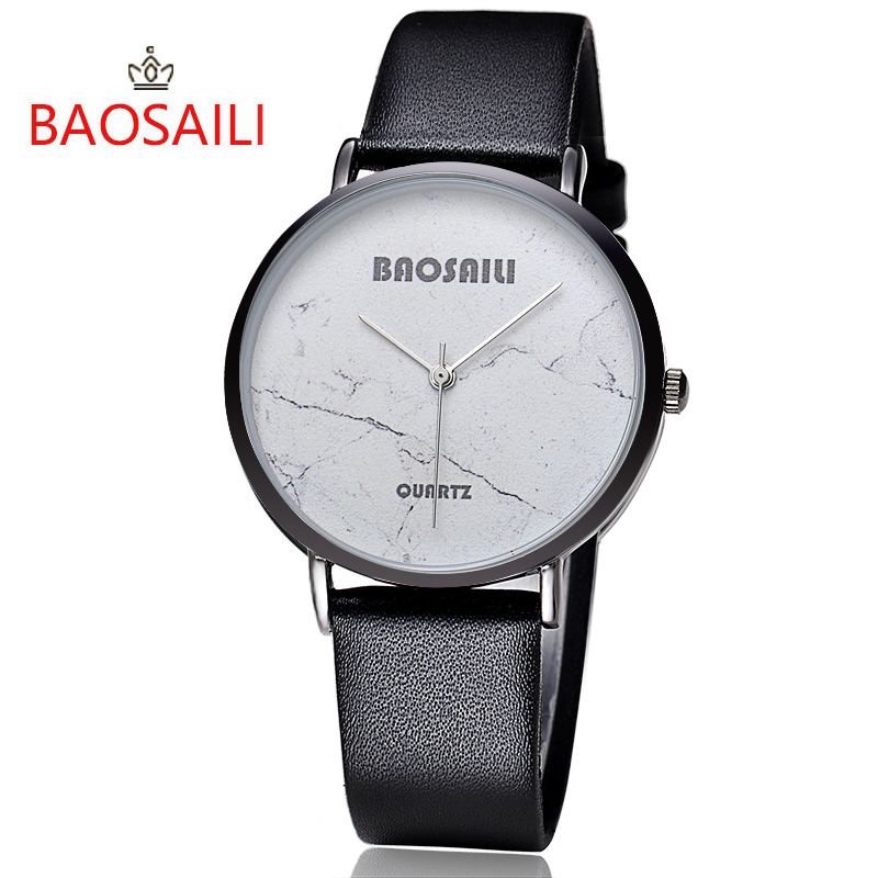 BAOSAILI Gold Plating Case Women Wristwatch Black Crack White Marble Design Brand Quartz Women Watches Japan Movt Waterproof vertu signature s design white gold реплика москва