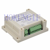 Декодер Mokungif для светодиодных ламп  1 шт.  декодер с 4-кратным контроллером  RGB  светодиодные ленты  AC110-220V  dmx512  3P реле  используются для светоди...