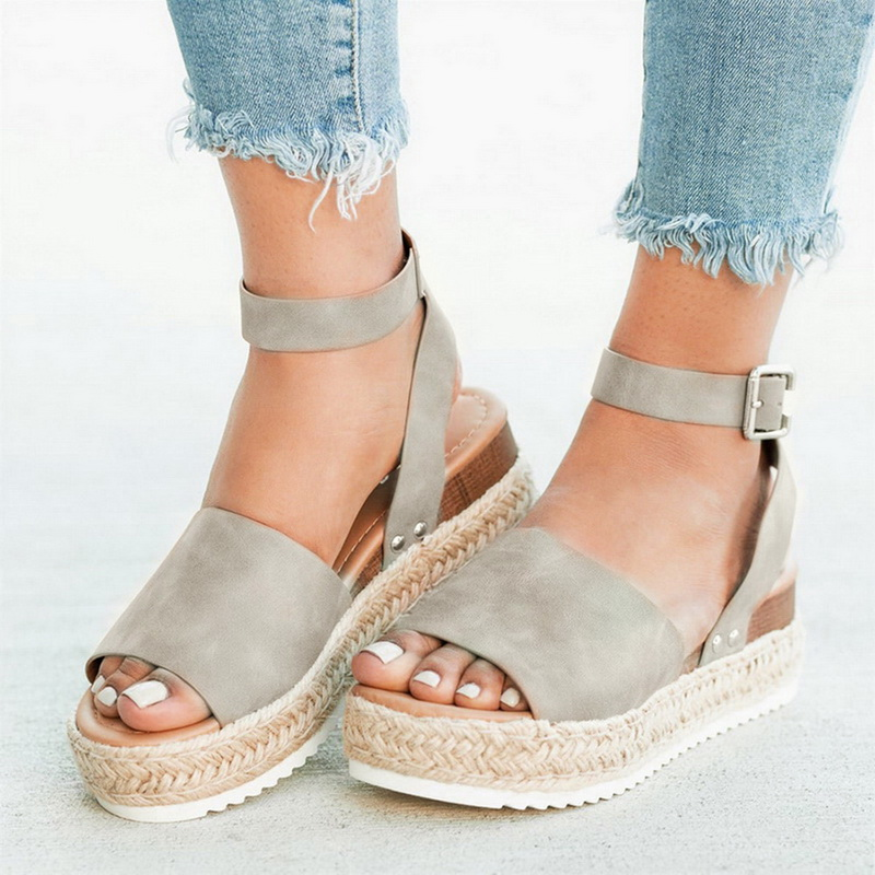 Oeak Wedges Sandals Shoes Women  Heels Torridity Shoes 2019  Flop Chaussures   Sandals 2019(China)