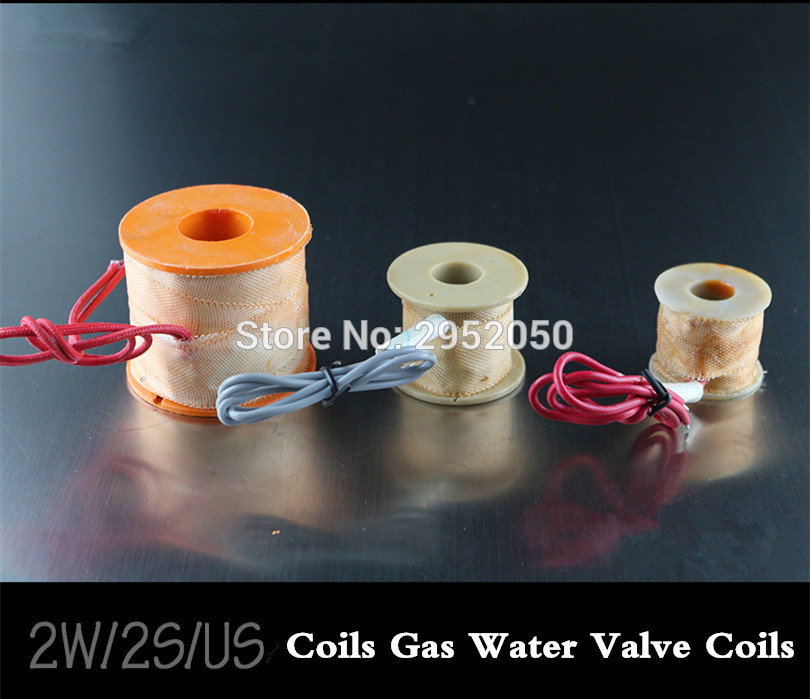Free Shipping 2PCS Electric Coils Gas Water Valve Coils Solenoid Coil Kit Replaces for 2W200-20 DC12V,DC24V,AC110V pr AC220V free shipping3 4 port size dn20 ip68 class under water brass electric solenoid valve waterproof coil music fountain valve dc24v