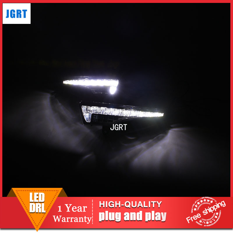 car styling 2013-2015 For Nissan TEANA LED DRL For TEANA led fog lamps daytime running light High brightness guide LED DRL for nissan primera estate wp12 2002 2015 car styling led light emitting diodes drl fog lamps