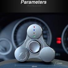 บุหรี่ไฟฟ้าเบาUSBชาร์จมืออยู่ไม่สุขปินเนอร์โลหะTri-s pinnerสามเหลี่ยมอยู่ไม่สุขที่มีไฟled spynnerที่มีกล่องของขวัญ