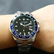 Top Brand Luxury Watch Men GMT quartz
