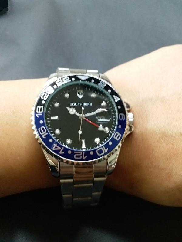 Top Brand Luxury Watch Men GMT Quartz Watches Business Luminous Sapphire Stainless Steel Daytona Watch 4.4CM