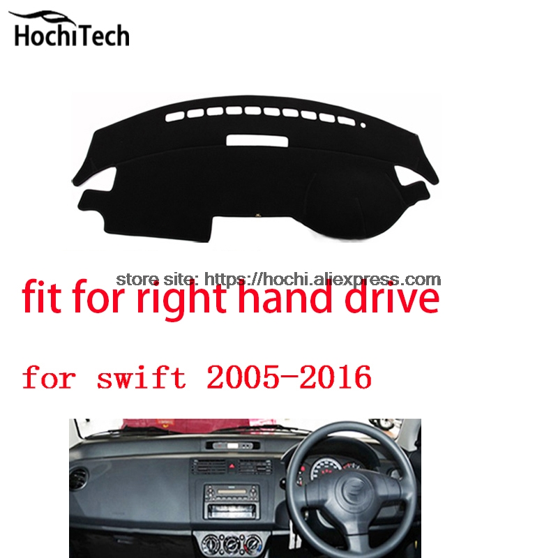 For Suzuki Swift 05-16 right hand drive dashboard mat Protective pad black Red car-styling Interior Refit sticker Mat products for toyota prius 2012 2013 right hand drive dashboard mat protective pad black car styling interior refit sticker mat products