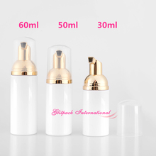 hot deal buy personal care best packaging companies pet containers foam bottle shinny gold electroplate foaming pump bottle excellent quality