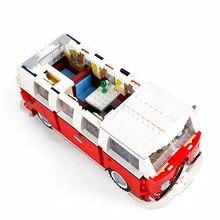 Technic Series 10220 1354pcs technology series Volkswagen T1 camper car modeling building blocks toys