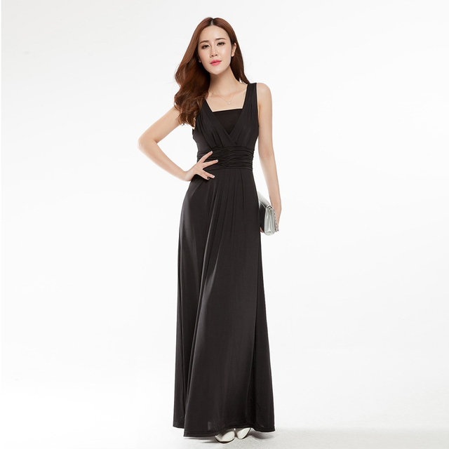 29d342b93 Summer Boho Plus Size 3XL Women Sexy V-Neck Long Dresses Ice Silk Maxi  Dresses