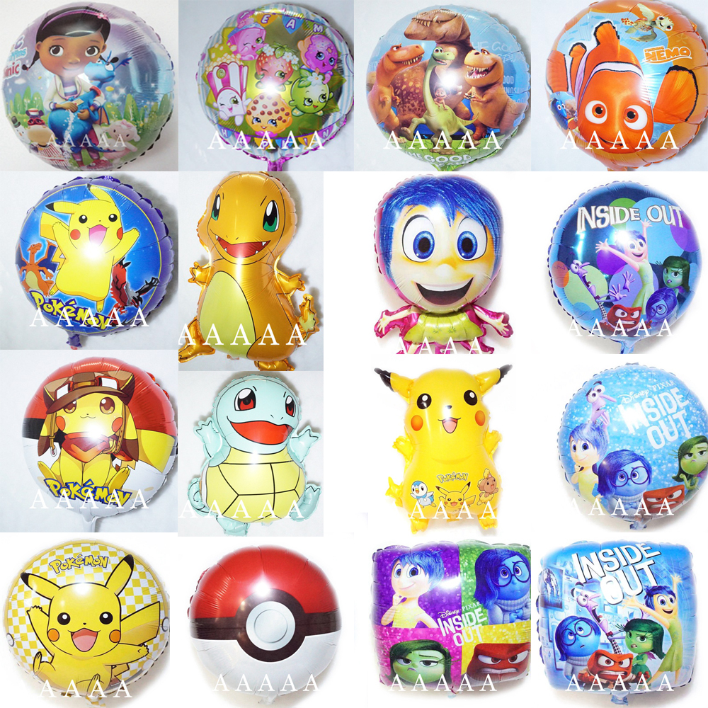 5pc birthday balloons finding dory nemo Good Dinosaur balloons inside out pokemo