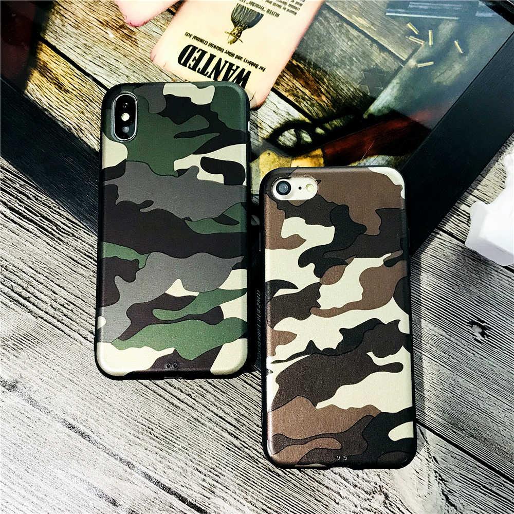 1b1133c76d Retro Camouflage American flag Luminous Case For iphone 7 7plus X 8 6 6S  Plus Super