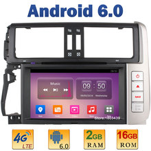 1024*600 Quad Core 2GB RAM 4G LTE SIM WIFI Android 6 Car DVD Player Radio For Toyota Land cruiser Prado 150 2010-2013 DAB+AUX