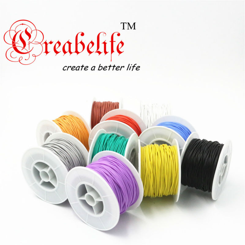 100 Meters 28 AWG Flexible Silicone Wire RC Cable 28AWG 16/0.08TS Outer Diameter 1.2mm With 10 Colors to Select panda electrical wire cable bvr flexiblecords 0 75 100 meters