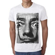 GILDAN Men Casual Short Sleeve T Shirts Salvador Dali H : Men's T-shirt Celebrity Star One In The City