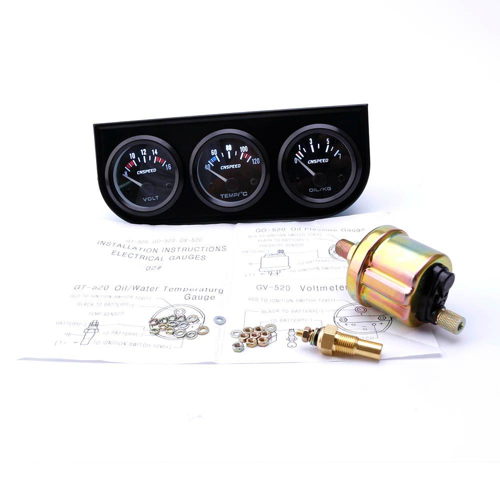 CNSPEED 52 mm 3 az 1-ben jelzőlámpa vezérlő voltmérő + - Autóalkatrész - Fénykép 2