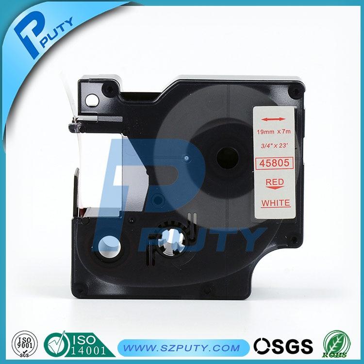 Высокого качества совместимый D1 45805 19 мм Красное на White Label лента для чайник Dymo Этикетки