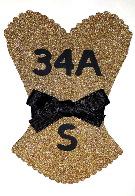 7f112acda3db glitter gold wedding Lingerie Size Insert decorations Bachelorette Party
