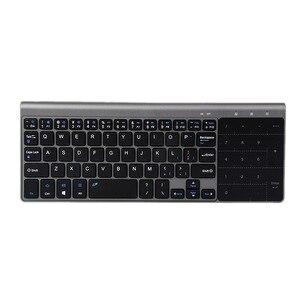 Image 5 - مصغرة لوحة مفاتيح لاسلكية مع لوحة لمس للكمبيوتر الألعاب 2.4GHz لوحة المفاتيح اللاسلكية المحمولة ل وحي محمول