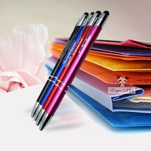 40PCS&Free Shipping New design Metal ball Touch Stylus Pen Free logo laser engraving width company logo/address/phone for gifts