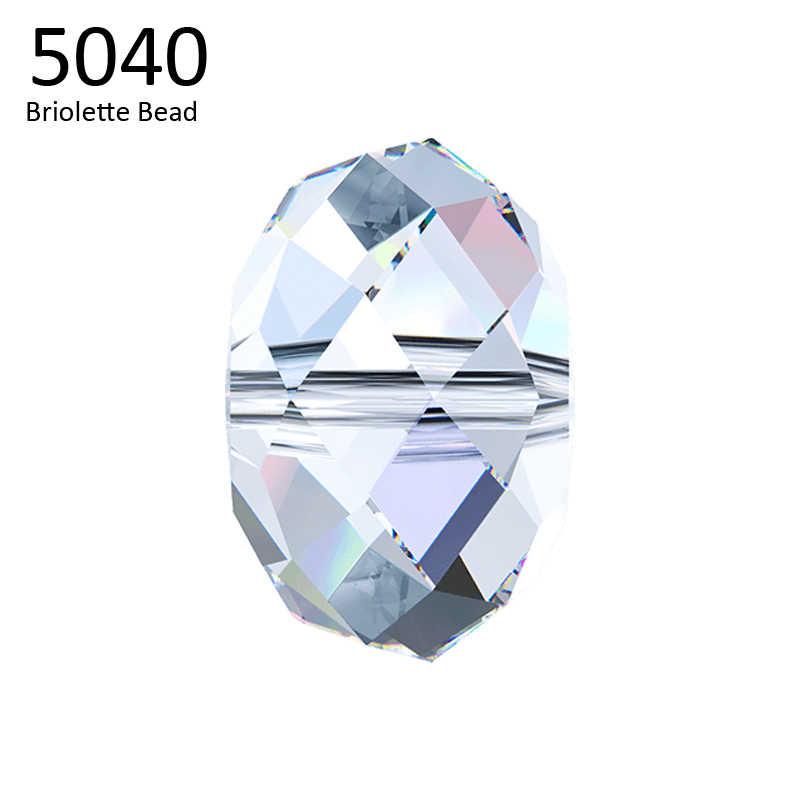 (1 Unidad) 100%, 4mm, 6mm, 8mm, cuentas de Briolette 5040, cristal de Swarovski, cuentas sueltas de HECHO EN Austria para hacer joyería DIY