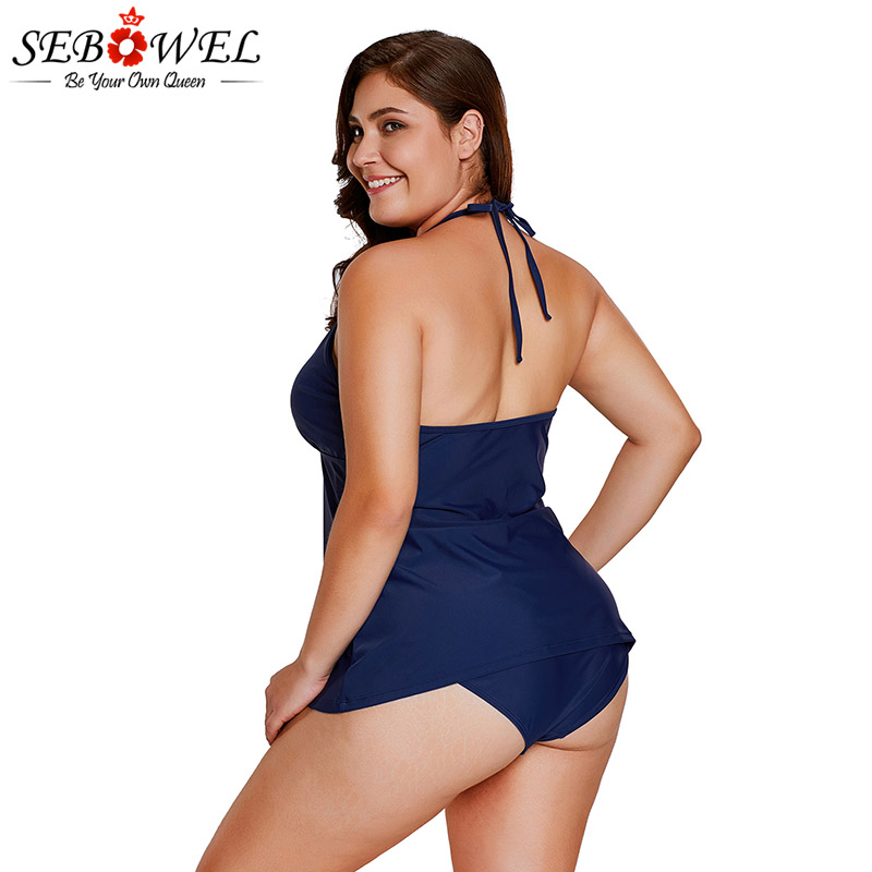 1c812ed8aa50d Aliexpress.com : Buy SEBOWEL Plus size Black Tankini Swimsuit 2019 Summer  Women Sexy Lace Up Bathing Suit Big Size Swimwear Beachwear swimming Suit  from ...