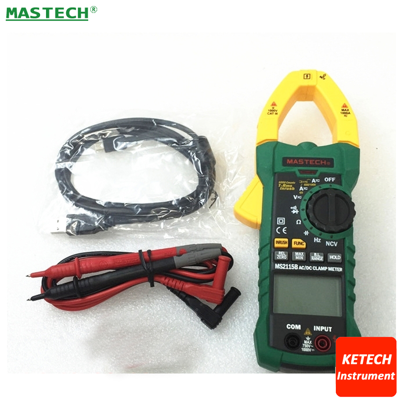 6000 Counts Digital AC/DC Clamp Meter with NCV True RMS AC/DC Voltage Current Tester Detector MASTECH MS2115B6000 Counts Digital AC/DC Clamp Meter with NCV True RMS AC/DC Voltage Current Tester Detector MASTECH MS2115B