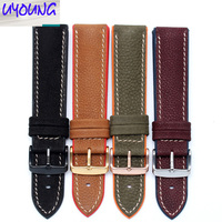 UYOUNG Waterproof silicone bottom watch band Universal men and women watch leather strap 20 22 24mm