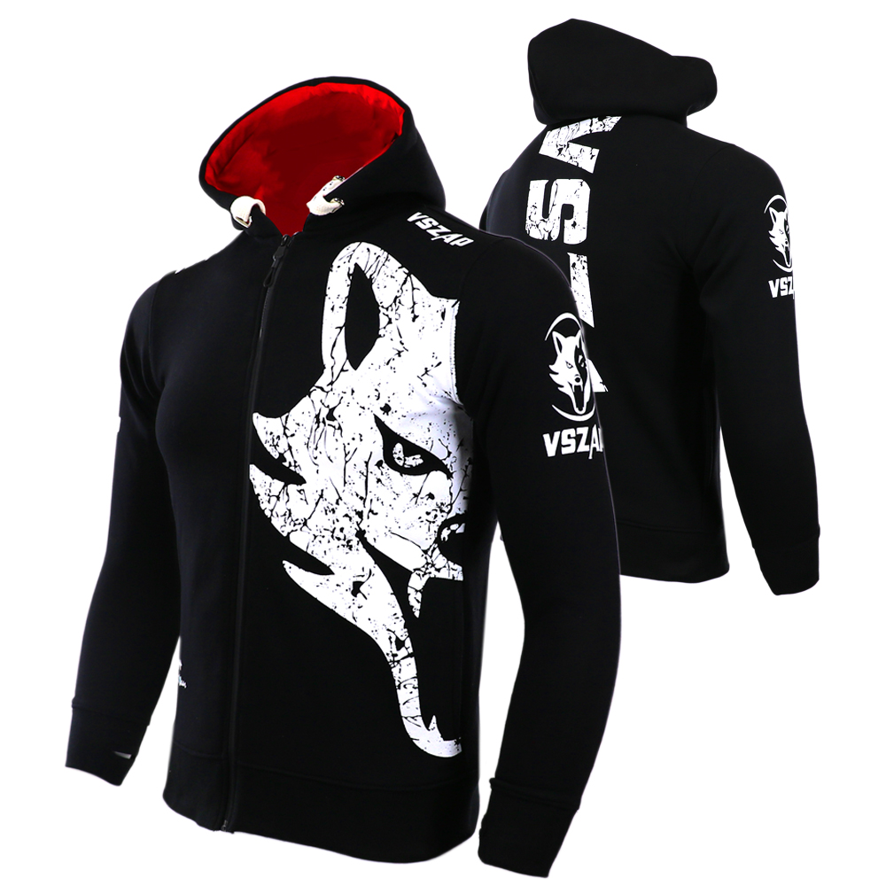 VSZAP Warm Winter Boxing Shirt Hoodie Tracksuits Fight MMA  Gym Tee Shirt Boxing Fitness Sport Muay Thai Men Camisetas Boxeo mma muay boxe pantalon boxeo m xxxl mma 43487516144